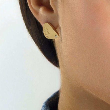 Biżuteria Guess kolczyki złote UBE79136