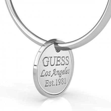 Biżuteria Guess kolczyki srebrne koła 3cm UBE79056