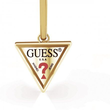 Biżuteria Guess kolczyki złote trójkąty UBE79059