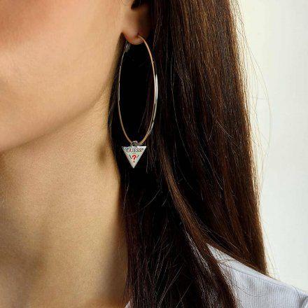 Biżuteria Guess kolczyki srebrne koła 6cm UBE79060