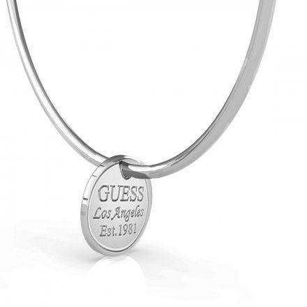 Biżuteria Guess kolczyki srebrne koła 6cm UBE79062