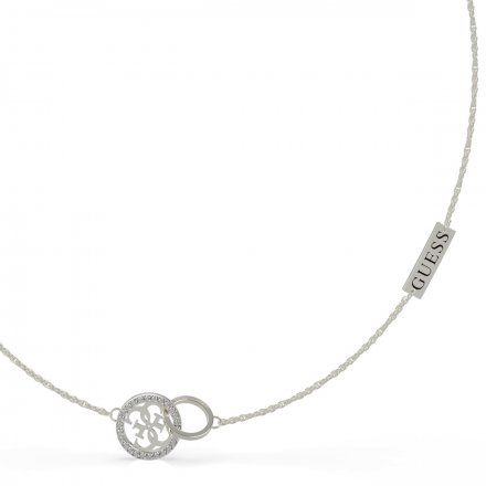 Biżuteria Guess naszyjnik srebrny logo UBN79045