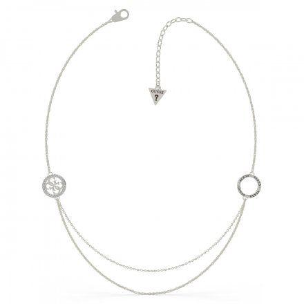 Biżuteria Guess naszyjnik srebrny logo UBN79047