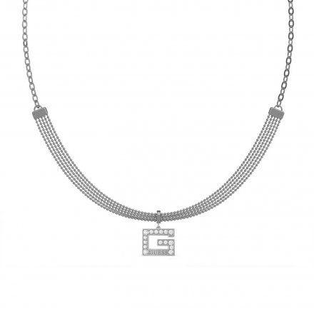 Biżuteria Guess naszyjnik srebrny litera G UBN79056
