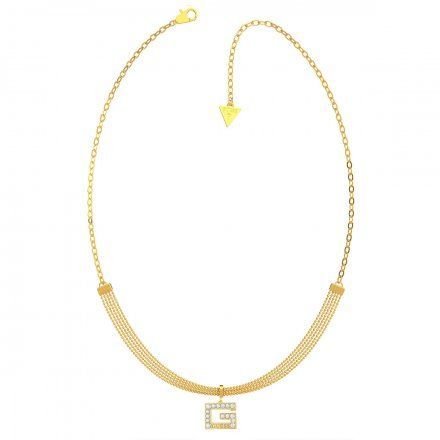 Biżuteria Guess naszyjnik złoty litera G UBN79057
