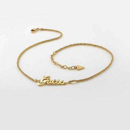 Biżuteria Guess naszyjnik złoty UBN79077