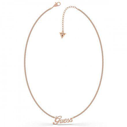 Biżuteria Guess naszyjnik różowozłoty UBN79078