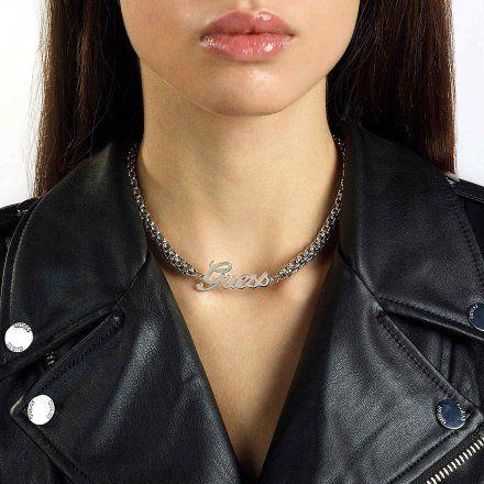 Biżuteria Guess naszyjnik srebrny UBN79080