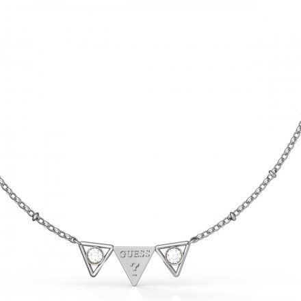 Biżuteria Guess naszyjnik srebrny trójkąty UBN79006