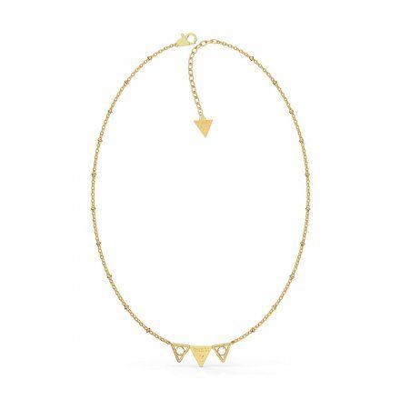 Biżuteria Guess naszyjnik złoty trójkąty UBN79007