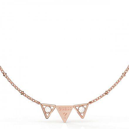 Biżuteria Guess naszyjnik różowozłoty trójkąty UBN79008