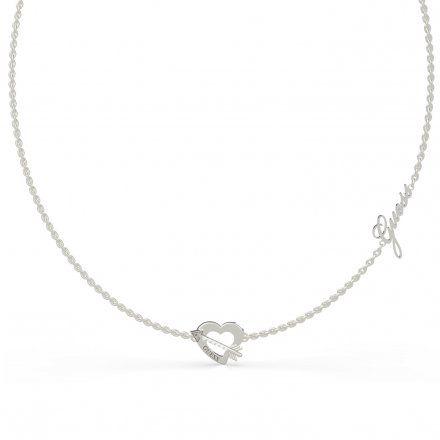 Biżuteria Guess naszyjnik srebrny serce strzała UBN79059