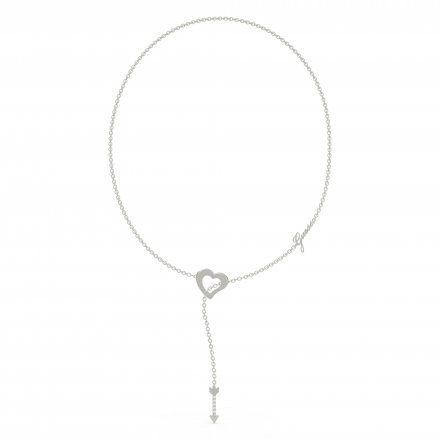 Biżuteria Guess naszyjnik srebrny serce strzała UBN79062