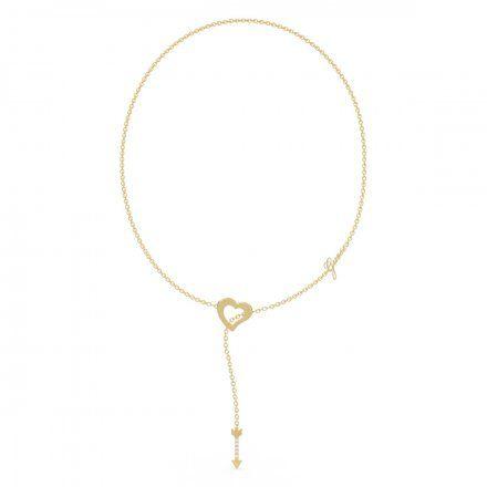 Biżuteria Guess naszyjnik złoty serce strzała UBN79063