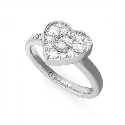 Biżuteria Guess pierścionek srebrny serce UBR79028-52