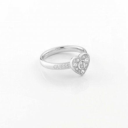 Biżuteria Guess pierścionek srebrny serce UBR79028-54