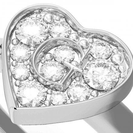 Biżuteria Guess pierścionek srebrny serce UBR79028-56