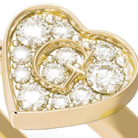 Biżuteria Guess pierścionek złoty serce UBR79029-50