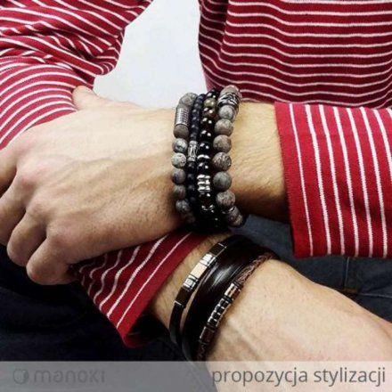 Biżuteria Manoki Skórzana bransoletka męska BA345A
