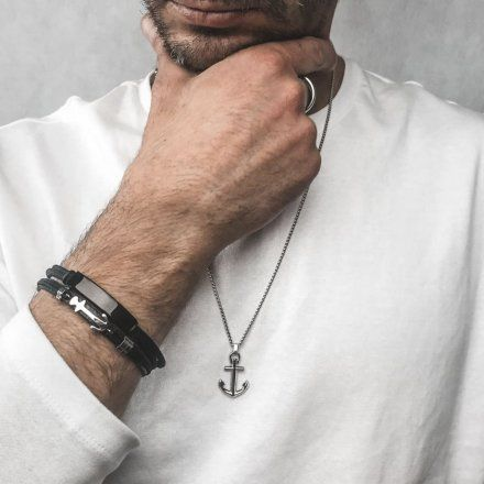 Biżuteria Manoki skórzana bransoletka męska BA624
