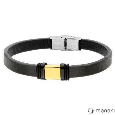 Biżuteria Manoki skórzana bransoletka męska BA695G