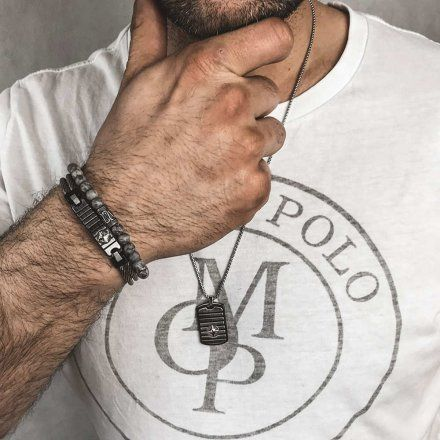Biżuteria Manoki Stalowa bransoletka męska BA822