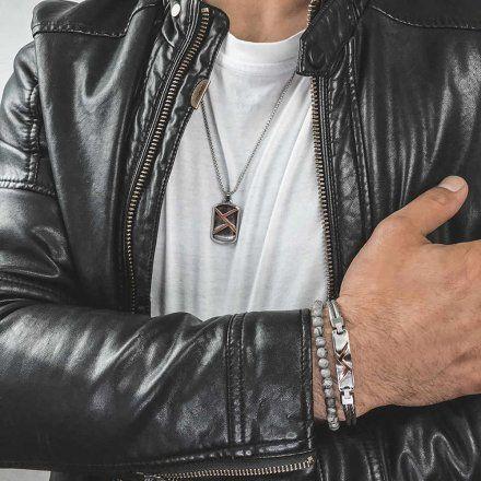 Biżuteria Manoki Stalowa bransoletka męska BA823