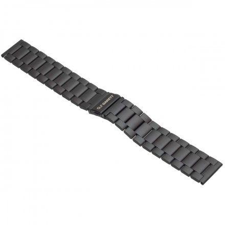 Pasek do Garett Men 3S czarny, stalowy 22mm