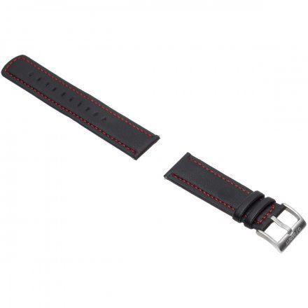 Pasek do Garett Men 5S czarno-czerwony, skórzany 22mm