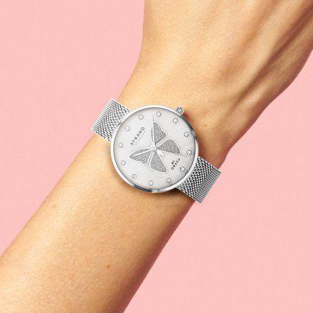 S700LXCWMC-DB Srebrny zegarek Damski Strand