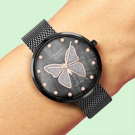 S700LXBBMB-DB Grafitowy zegarek Damski Strand by OBAKU