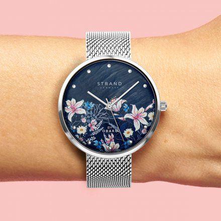 S700LXCBMC-DF  Srebrny zegarek Damski Strand by OBAKU