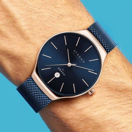 S701GDVLML Granatowy zegarek Męski Strand by OBAKU