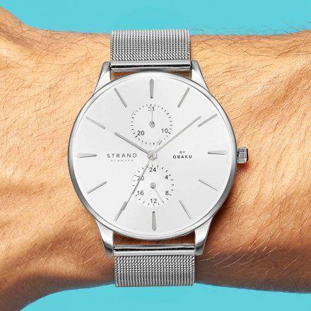S703GMCIMC Srebrny zegarek Męski Strand