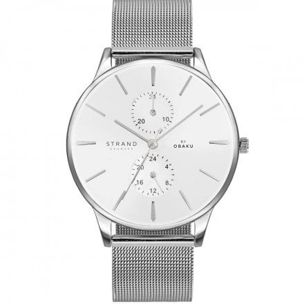 S703GMCIMC Srebrny zegarek Męski Strand by OBAKU