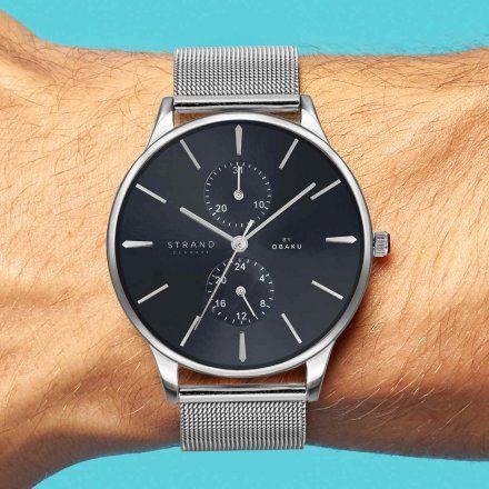 S703GMCLMC Srebrny zegarek Męski Strand