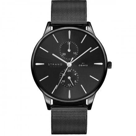 S703GMBBMB Czarny zegarek Męski Strand