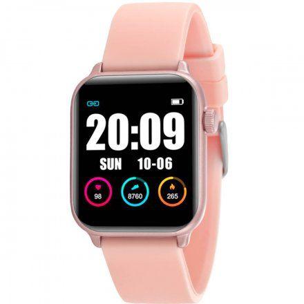 Różowy smartwatch damski Rubicon RNCE57RIBX05AX
