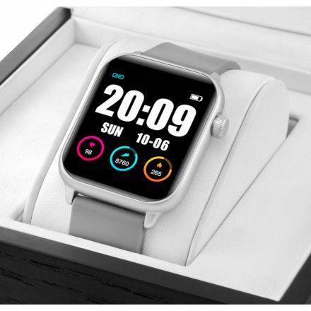 Szary smartwatch damski Rubicon RNCE57SIBX05AX