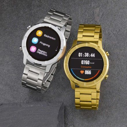 Czarny Smartwatch Marea B58003-2 bransoletka mesh + czarny pasek