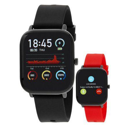Smartwatch Marea B58006-1 czarny + czerwony pasek ROZMOWY
