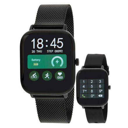 Smartwatch Marea B58006-2 bransoletka + czarny pasek ROZMOWY