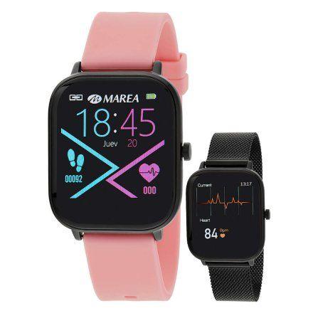 Smartwatch Marea B58006-3 bransoletka + różowy pasek ROZMOWY