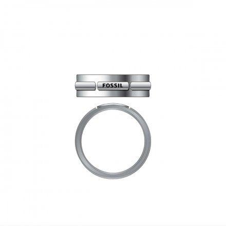 FOSSIL srebrny pierścionek męski obrączka JF03636040 r. 25