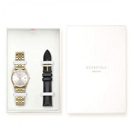 Zegarek Damski Rosefield The Ace + Pasek ASGBG-X238 Zestaw prezentowy