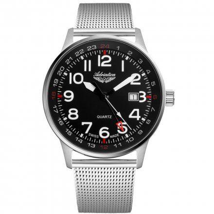 Zegarek Męski Adriatica na bransolecie A1067.5124Q - Zegarek Kwarcowy Swiss Made
