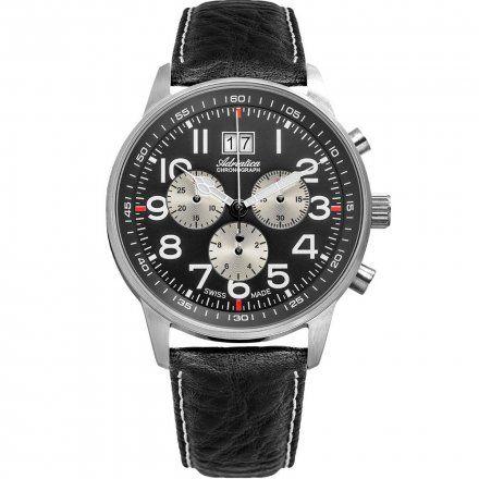Zegarek Męski Adriatica na Pasku A1076.5224CHSIL - Chronograf Swiss MadeXL