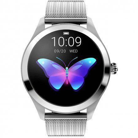 Srebrny smartwatch damski z bransoletką Pacific 06-X