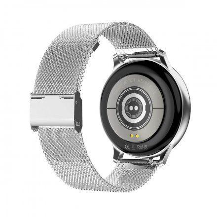 Smartwatch Pacific 09 Srebrny Bransoletka + Czarny Pasek