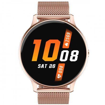 Smartwatch Pacific 09 Różowozłoty bransoletka + różowy pasek